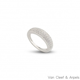 Van Cleef & Arpels White Gold Diamond Ring 0.56ct F/VS+